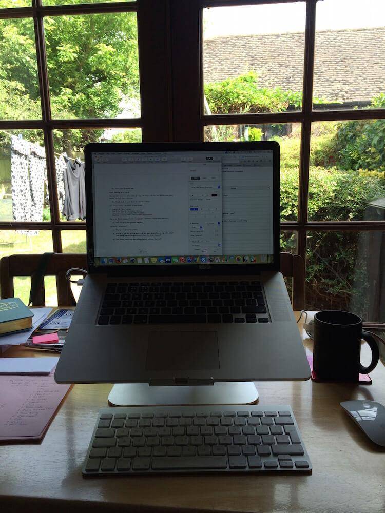 The desk of copywriter vicky fraser