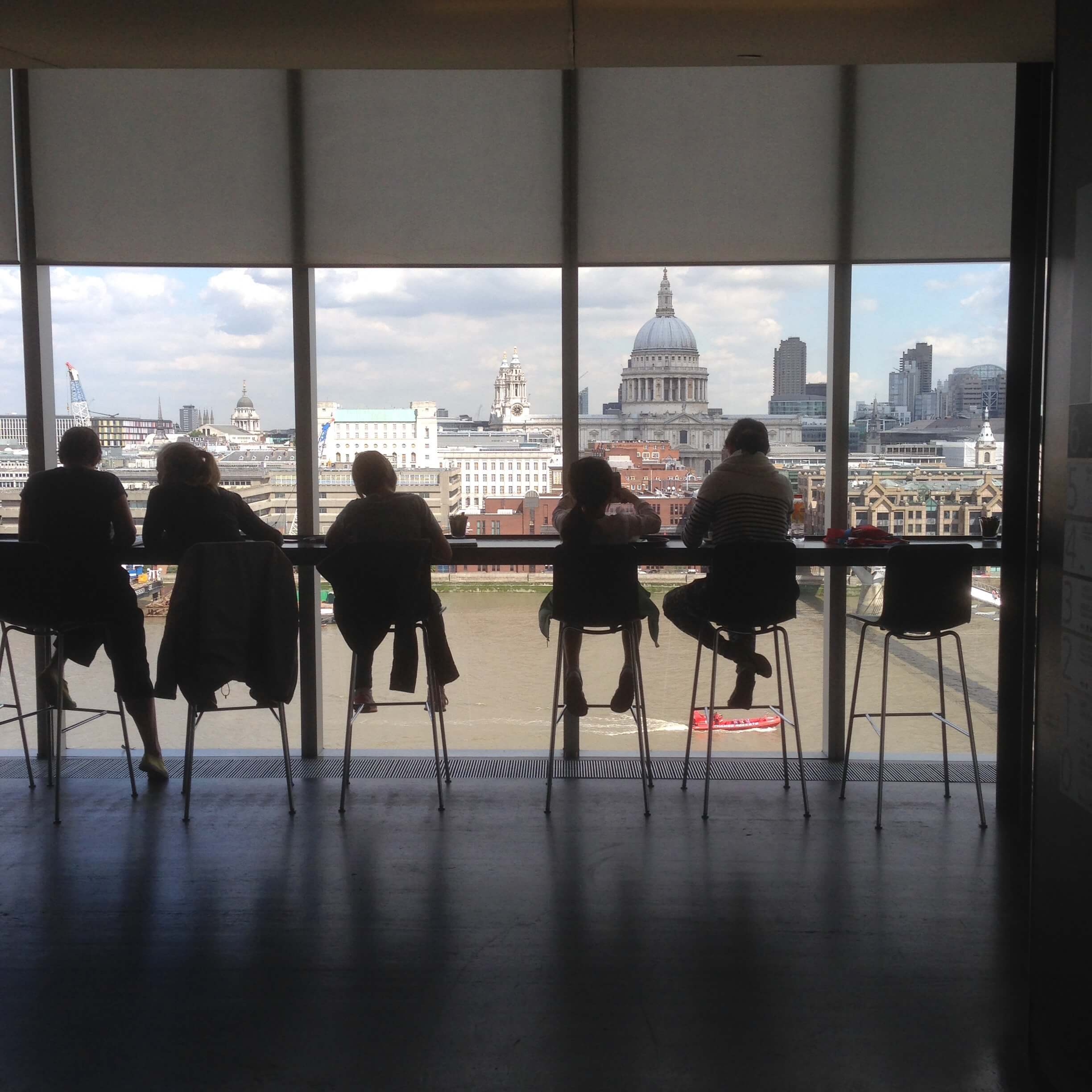 London skyline from Tate Modern overlooking our direct response marketing test site