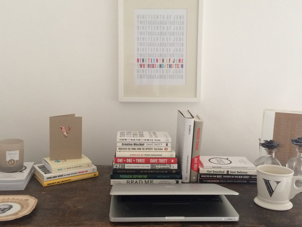 The writing desk of copywriter Vikki Ross