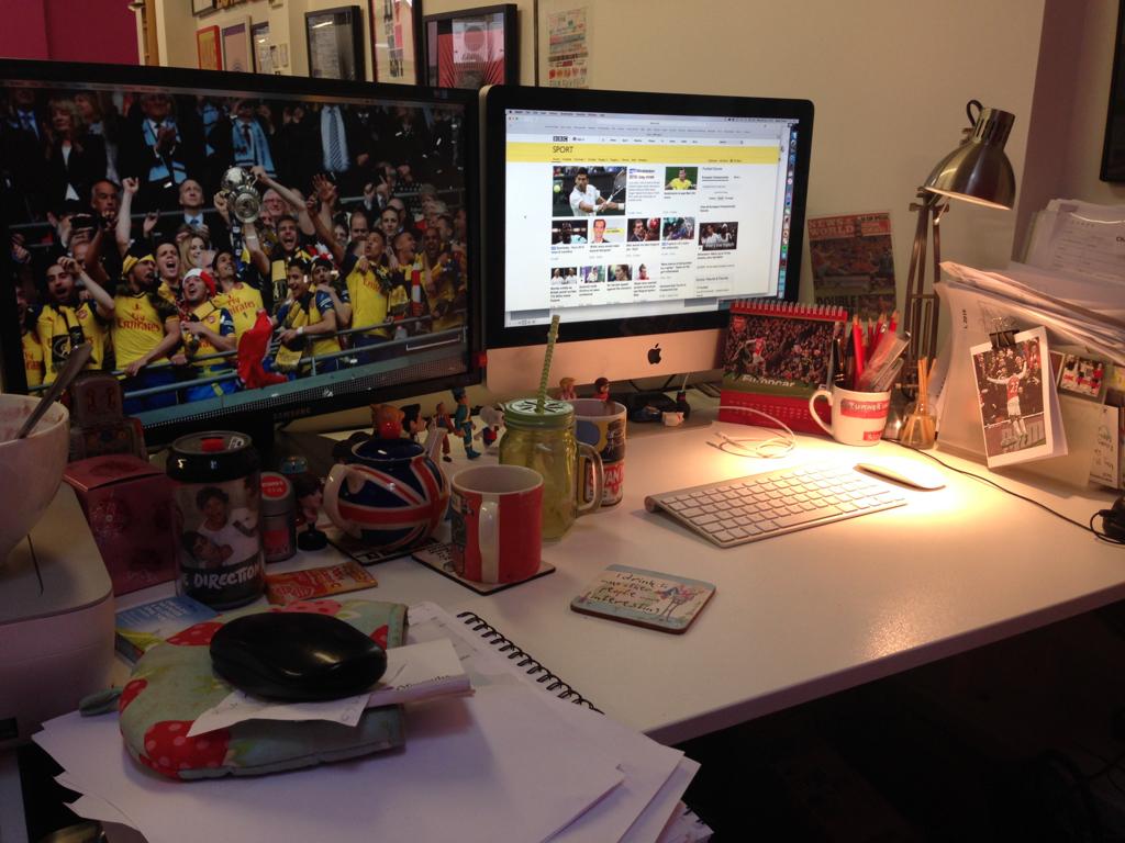 The desk of Sarah Turner, copywriter at Turner Ink