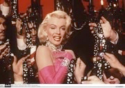 Image shows Marilyn Monrow singing Diamons are a Girl's Best Friend, Sarah Turner's favorite song