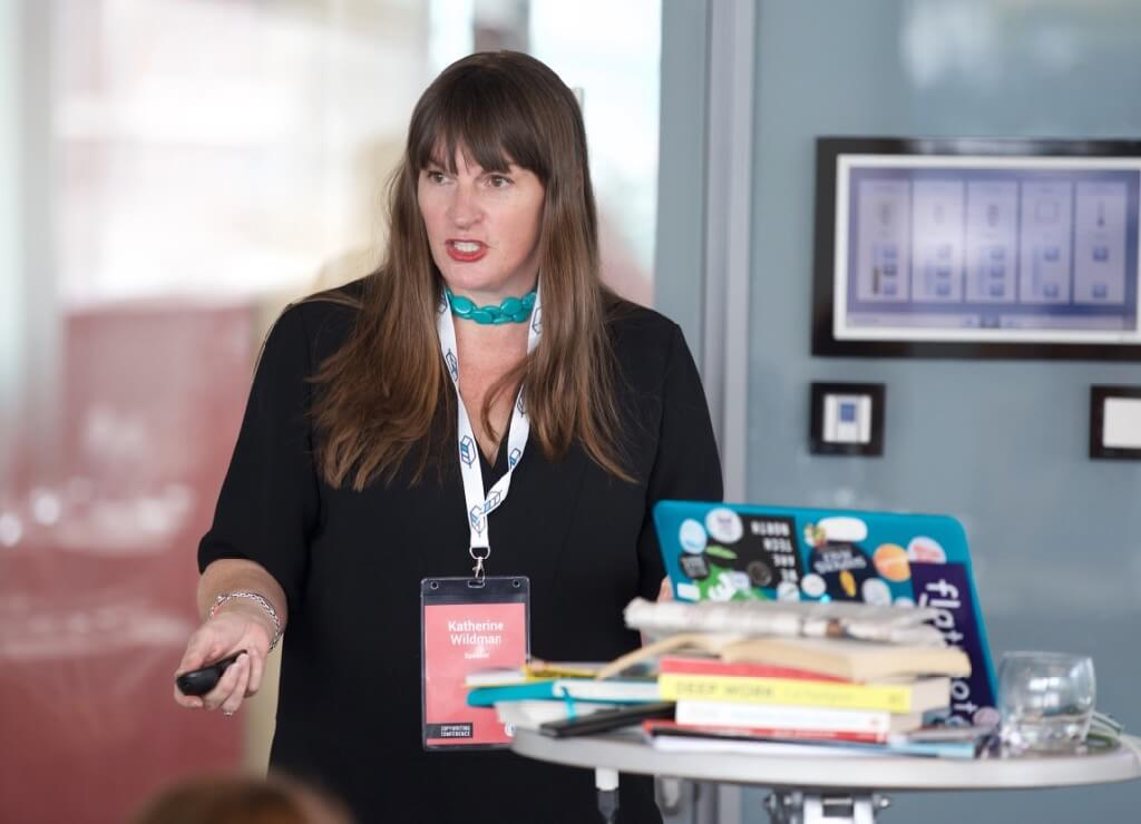 Katherine Wildman at the Professional Copywriters' Conference
