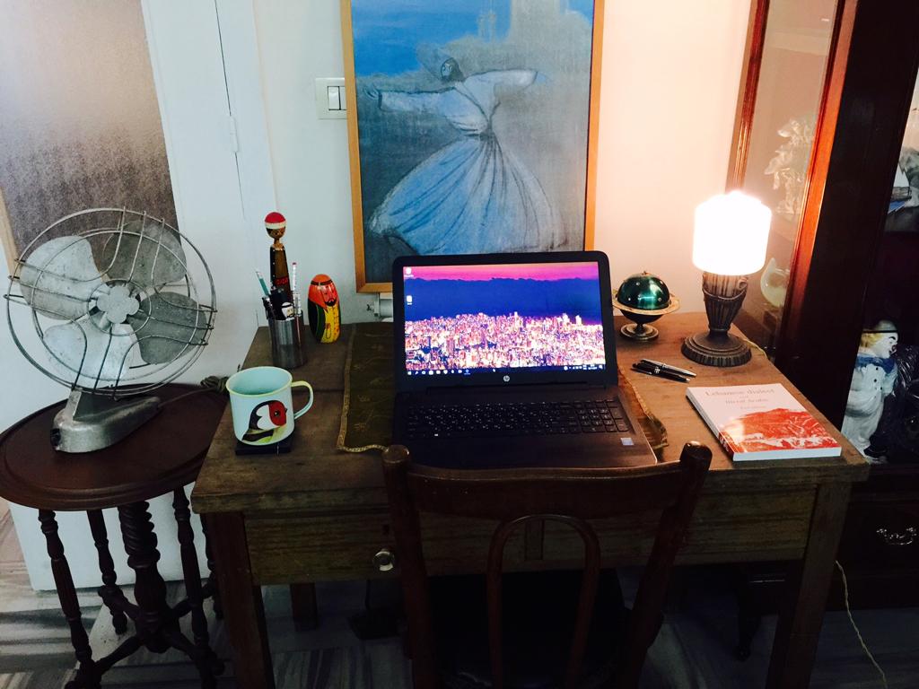 Derek Isaac's writing desk