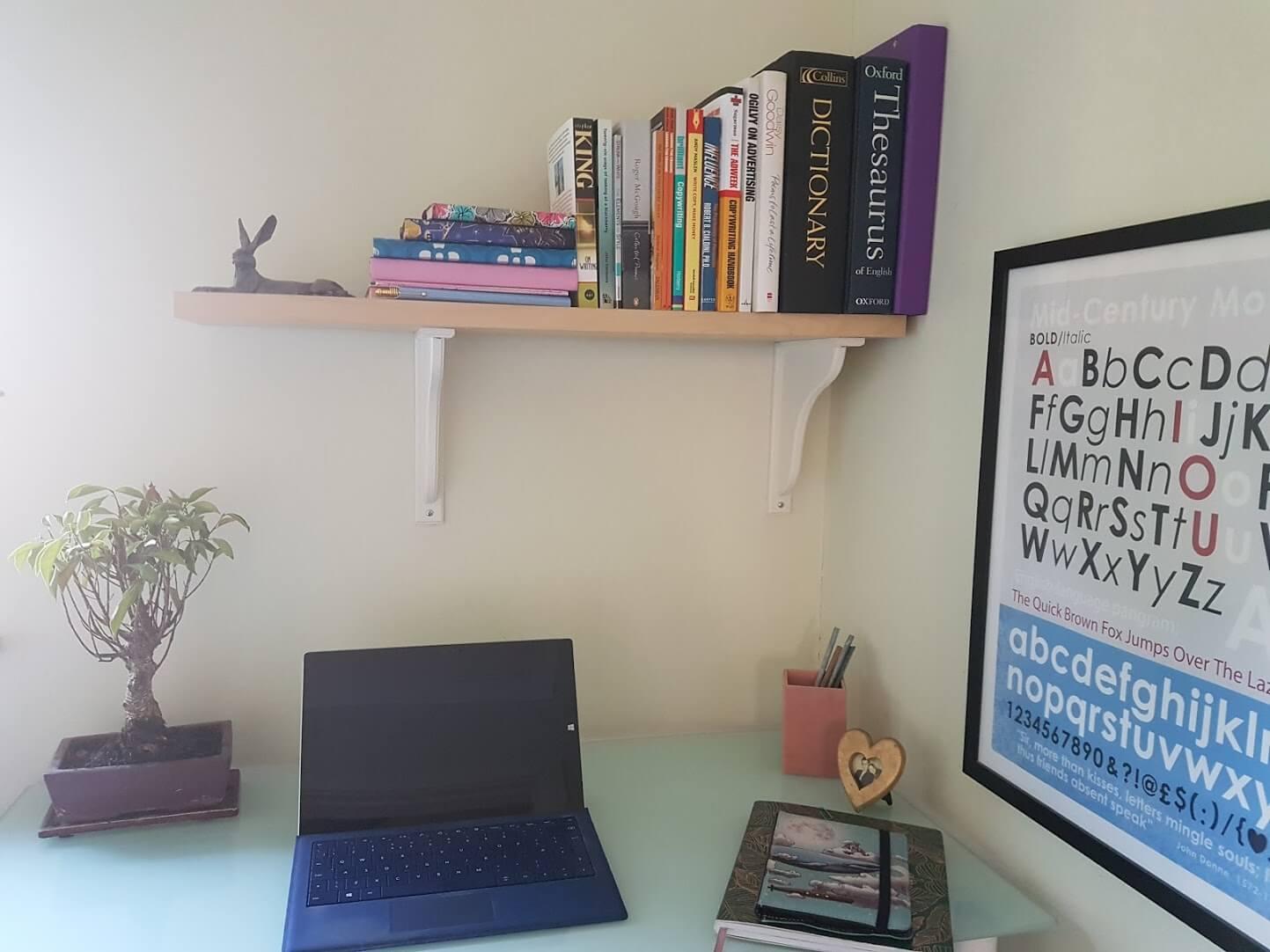 Jenny Catton Copywriter's office