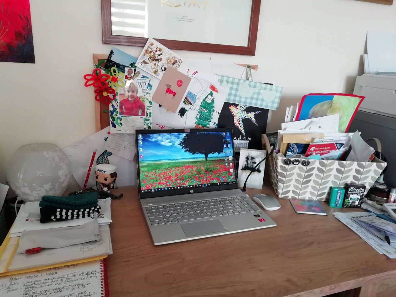 Deborah Nook Desk and Laptop