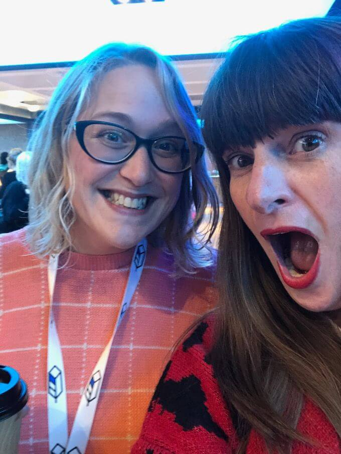 Lorraine and Katherine selfie